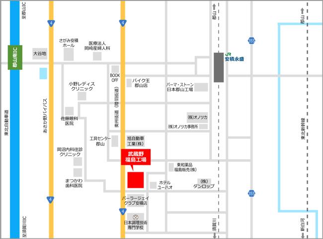 » 福島工場株式会社武蔵野周辺地図