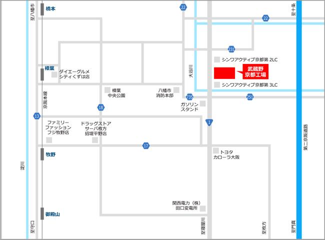 » 京都工場株式会社武蔵野周辺地図