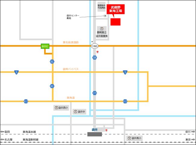 » 東海工場株式会社武蔵野周辺地図