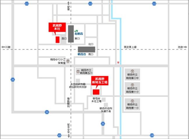 » 本社株式会社武蔵野周辺地図